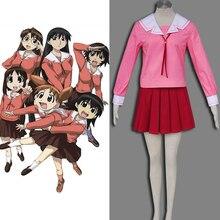 Caliente hecho A Mano Azumanga Daioh Cosplay Bule Pink Womens Traje Japonés Femenino Escuela de Verano uniforme, Alta Calidad Libre gratis
