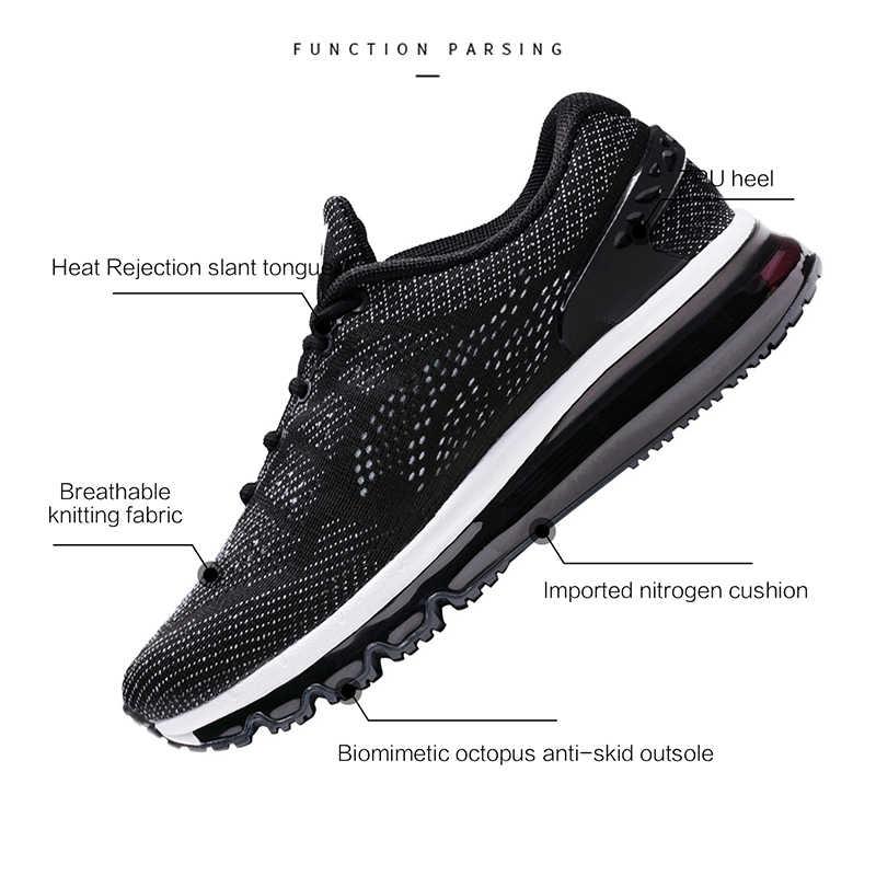 ONEMIX off black men sports almofada tênis de corrida sapatos para homens sapatos de caminhada dos homens de fitness para o sexo masculino max tamanho grande 36-47.TN