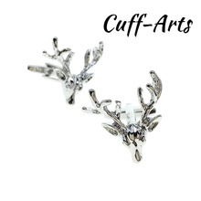 Cufflinks for Men Stags Head Mens Cuff Jewelery Gifts Vintage With Gift Box by Cuffarts C10310