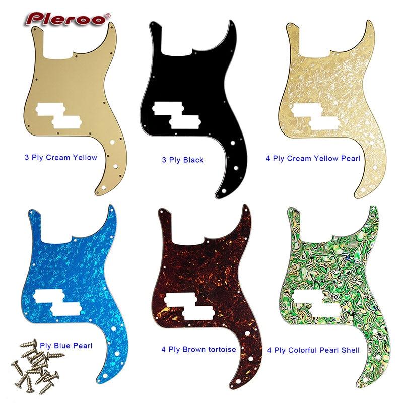 Partes de Guitarra personalizada Qualidade Guitarra Elétrica Pickguard-Para OS EUA/México Df Padrão P Bass Guitar Pickguard Raspadinha Placa