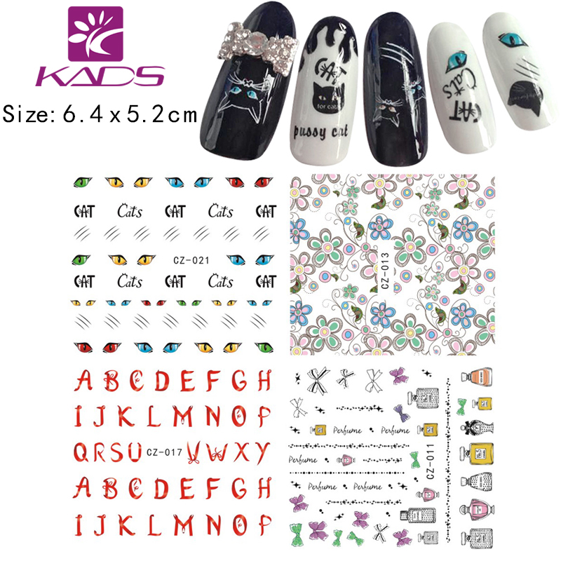 KADS 12vel / SET water decals Nail art Sticker Sneeuwvlokken Sterren - Nagel kunst