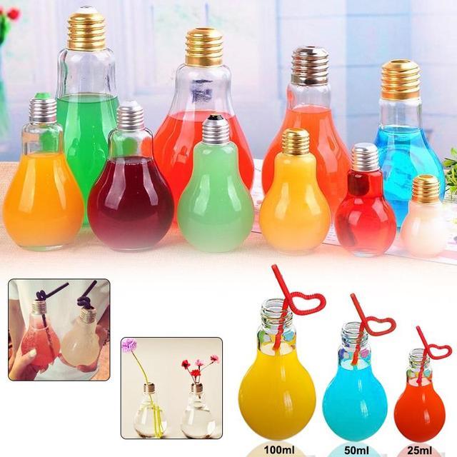 nouvelle bouteille lait lampe en verre ampoule verres gratuite boire conteneurs dans bouteilles. Black Bedroom Furniture Sets. Home Design Ideas
