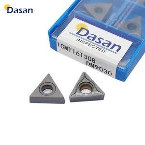 Image 1 - 10 pcs TCMT16T308 TCMT16T304 TCMT110204 Chèn Carbide Chuyển Biến Công Cụ CNC Lưỡi Máy Tiện Cắt Tấm Công Cụ Miễn Phí Vận Chuyển