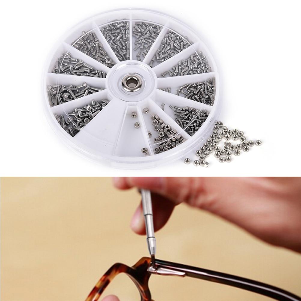 For Glasses Clock Stainless Steel Screws Nuts Kit Repair Tools With Screwdriver