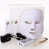 Photo LED Skin Rejuvenation Therapy Face Facial Mask Facial Beauty Skin Care 3 Colors Light Wrinkle Removal Anti Aging