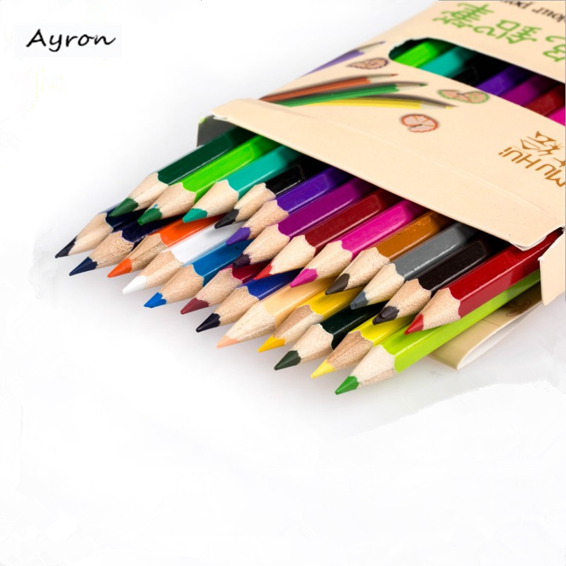 Ayron 12/18/24/36color pencils Colour pencils prismacolor colored pencils School goods pencil drawing tools