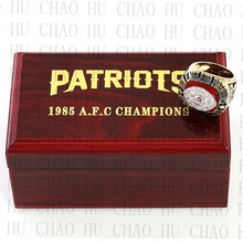 New England Patriots Championship Ring 1985 Replica AFC American Football Rings Fashion Jewelry Men Fan Gift Gold Plated BJ250