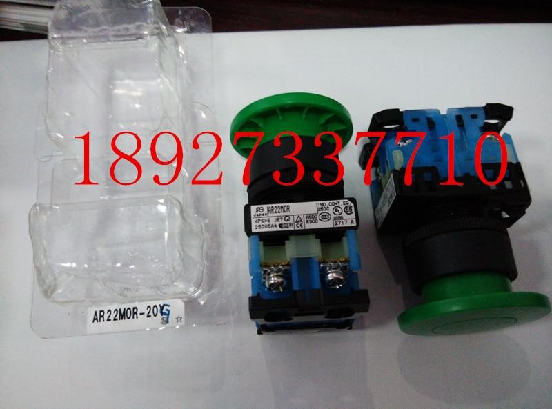 [ZOB] New original authentic Fuji large mushroom button switch AR22M0R-20G  --5PCS/LOT