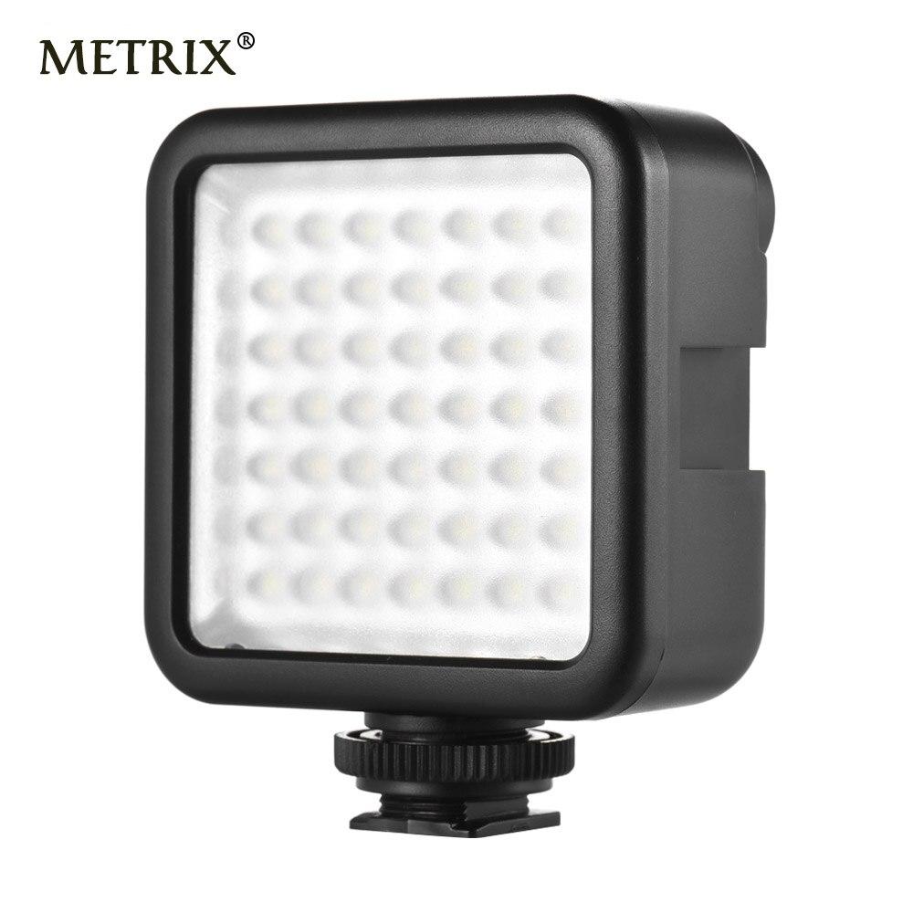 Mini LED Video Light on Camera with 3 Hot Shoe for DSLR Camcorder Mini DVR Night Fill Lighting for Nikon Canon Sony PK Godox