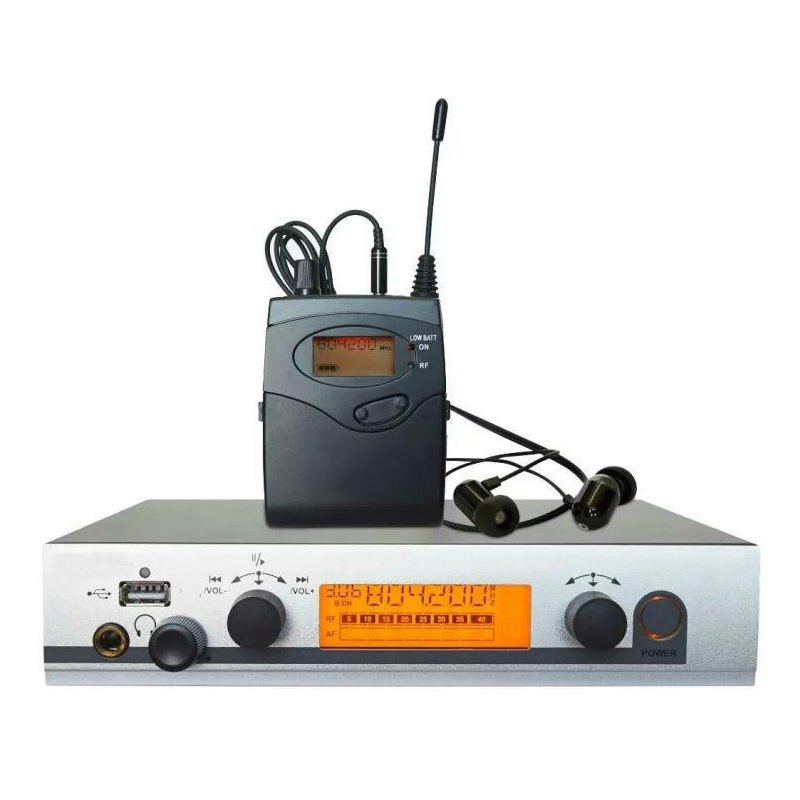 Wireless in ear monitor system Multiple Receivers in-ear monitoring stage ear monitors UHF PLL IEM System for Live Show Singing blueskysea atg100 wireless tour guide system 1transmitter 15 receivers charger for meeting visiting teaching 195 230mhz portable