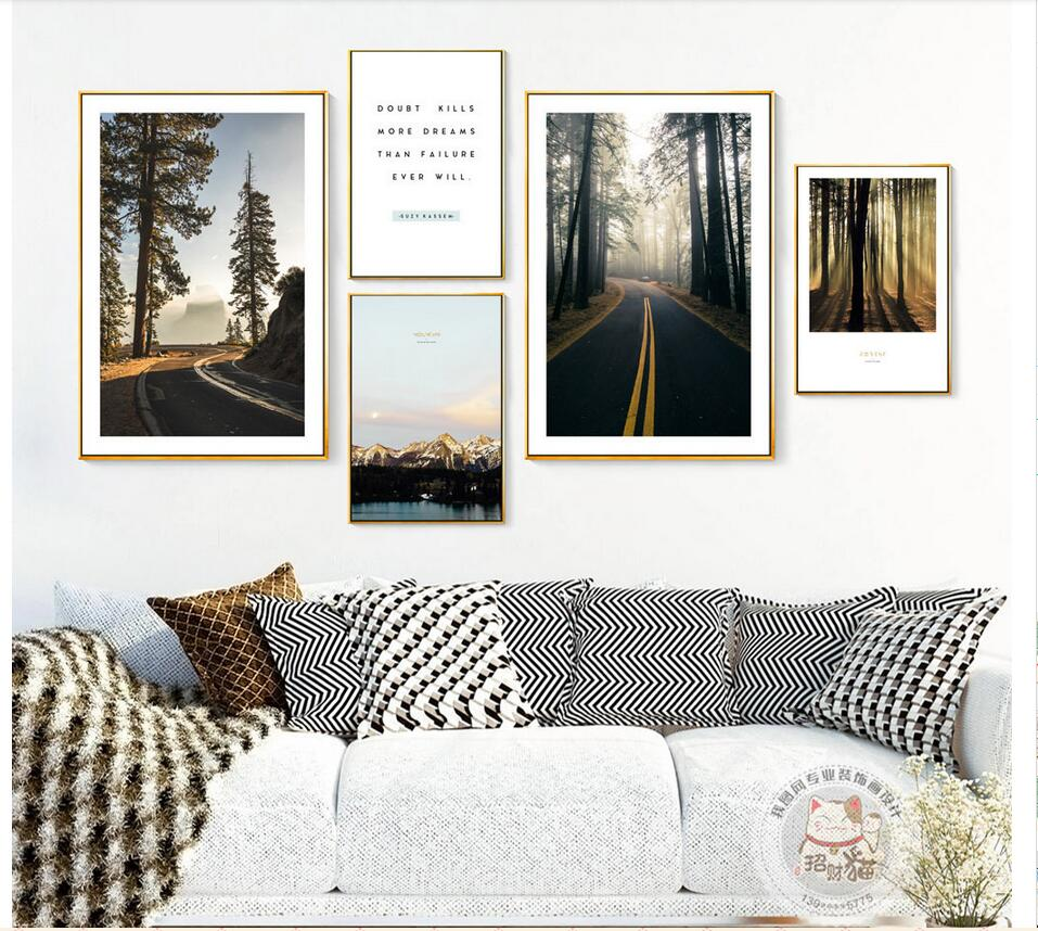 Nordic Home Decorative Painting Autumn travel scenery Wall Photo Canvas Painting Photo For Living Room Poster CS27