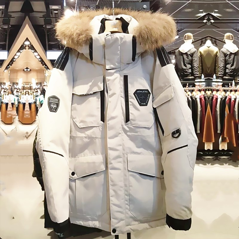 Streetwear Autumn Winter Coat Men Clothes 2019 Casual White Duck Down Jacket Men Tops Thick Warm Coats Casaco Abrigos ZT3229