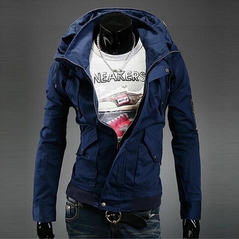 Hot Sale Men Bomber Jackets Slim Fit Double collar Outerwear Men Coat Suits Tracksuits Autumn And Winter Men Jacket