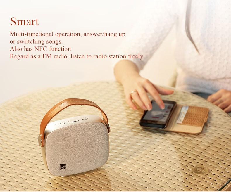 Portable Desktop Speakers Wireless Bluetooth Speaker Remax RB-M6 HIFI Handsfree Design fm radio soundbar for smart phone (12)