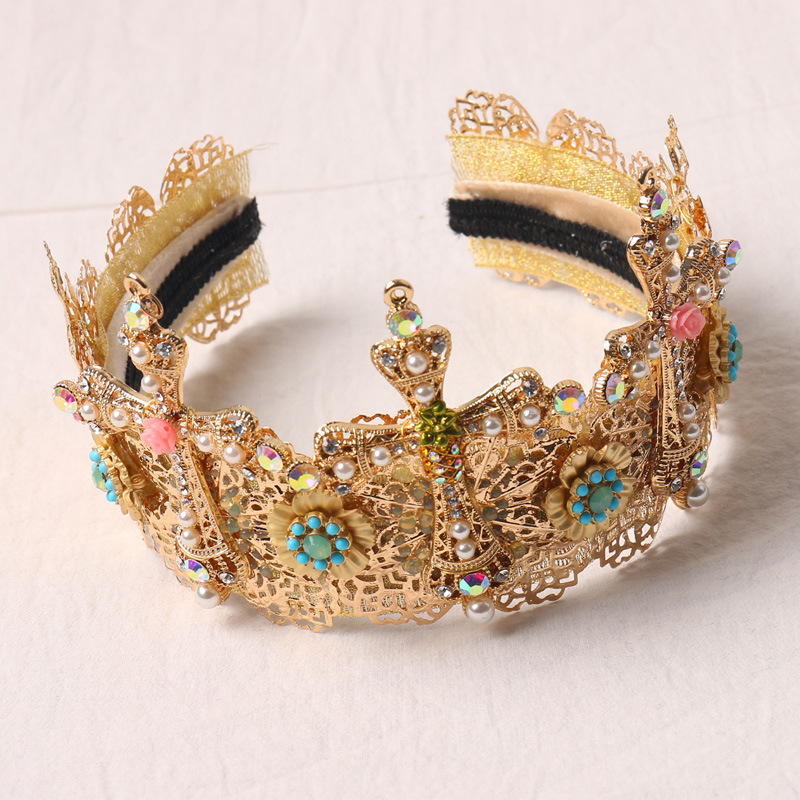 2017 Baroque Crown Korean Princess Wedding Bridal Shape Queen Crown Accessories Performance Dresses Bridal Accessories 886 маленькая сумочка korean style 2015 crown 0155