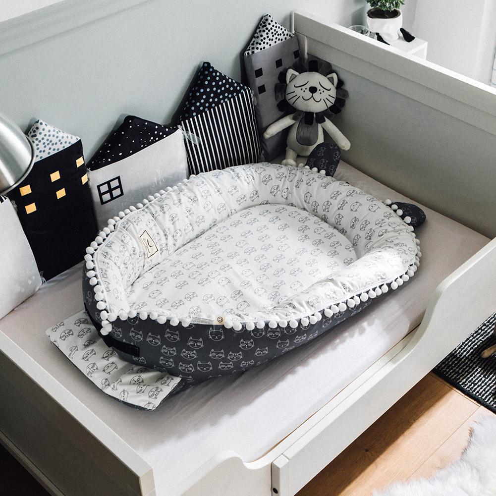 Kidlove mignon bébé nid lit Portable lit de voyage bébé enfant en bas âge berceau en coton pour nouveau-né bébé couffin pare-chocs