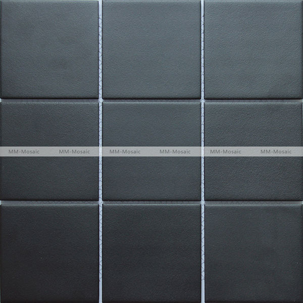 Black Anti Slip Ceramic Mosaic Tile Bathroom Shower Wall Floor Tile 294x294mm Cpm101d Mm Mosaic