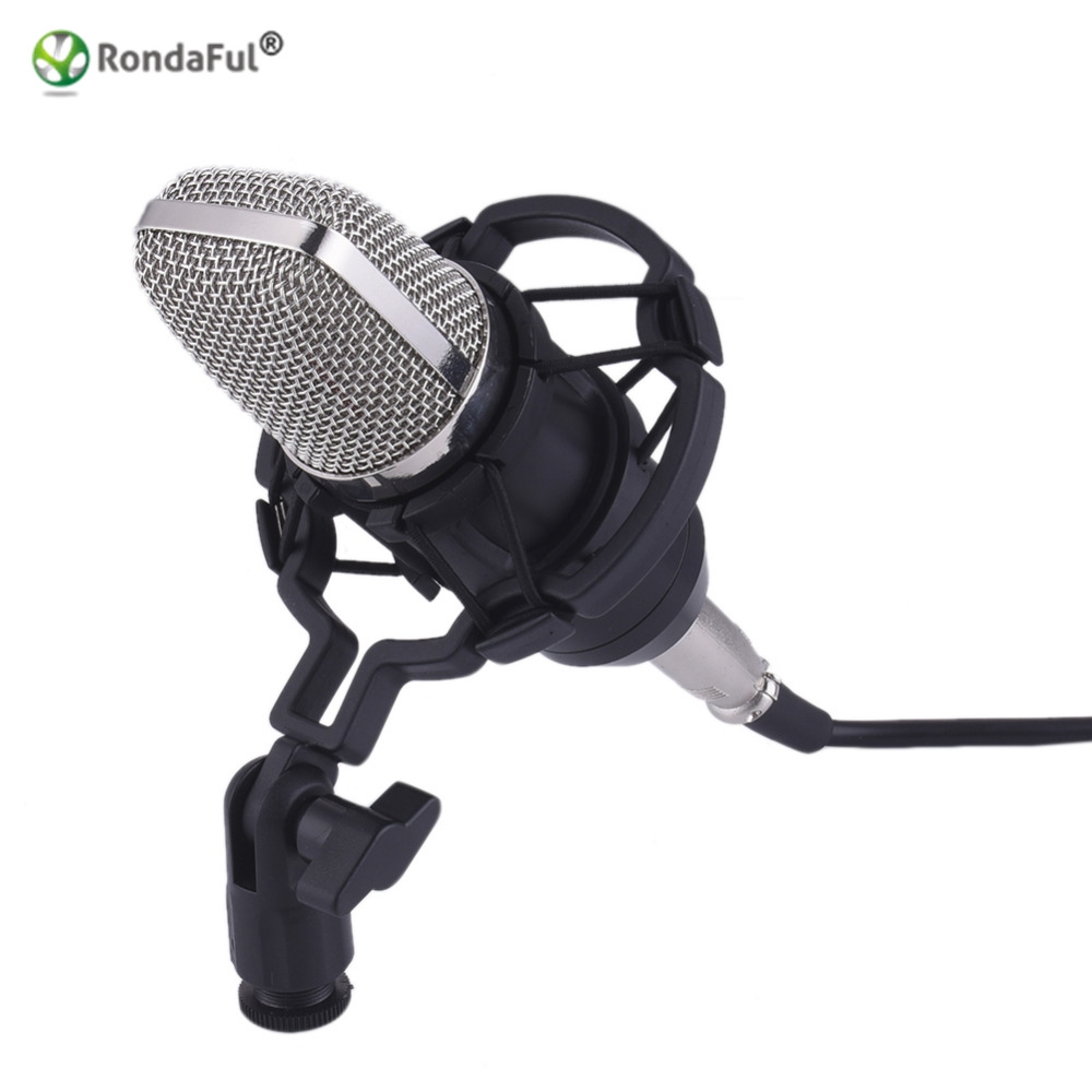 high quality professional bm700 studio microphone speakers wired condenser sound recording. Black Bedroom Furniture Sets. Home Design Ideas