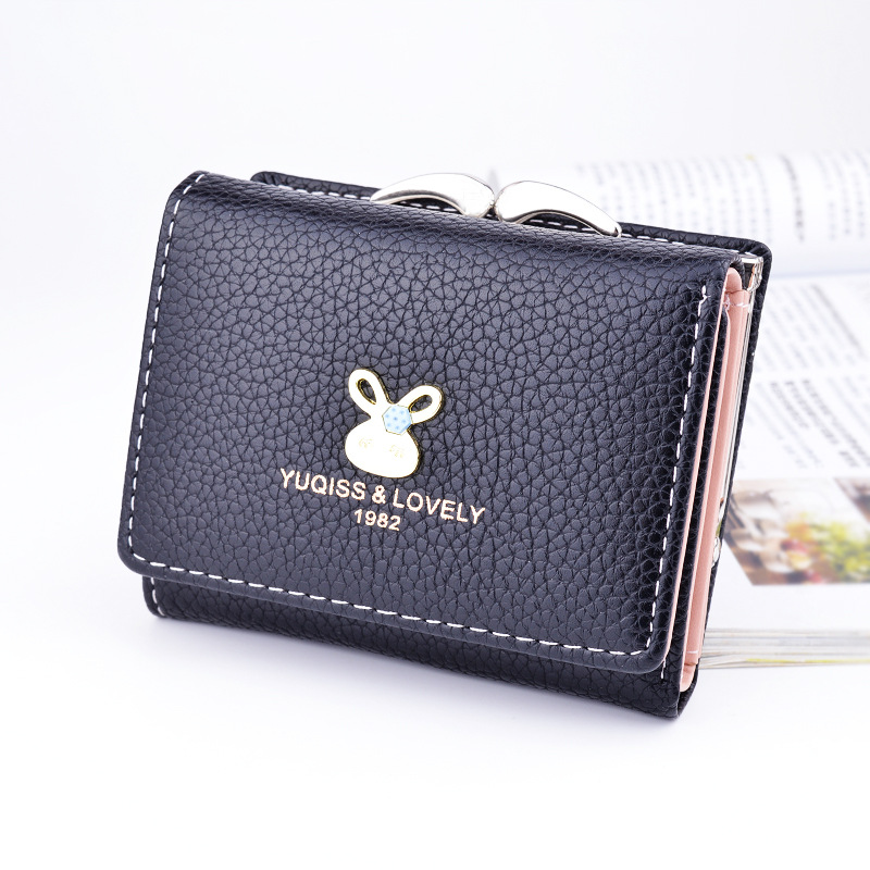 2017 New Cute Anime Leather Trifold Slim Mini Wallet Women Small Clutch Female Purse Coin Card Holder Dollar Bag Cuzdan Woman dollar price women cute cat small wallet zipper wallet brand designed pu leather women coin purse female wallet card holder