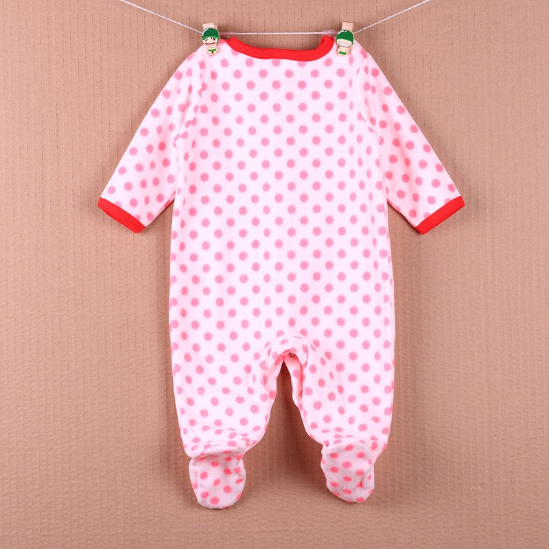 New Arrival Baby Footies Boys&Girls Jumpsuits Spring Autumn Clothes Warm Cotton Baby Footies Fleece Baby Clothing Free Shipping (33)