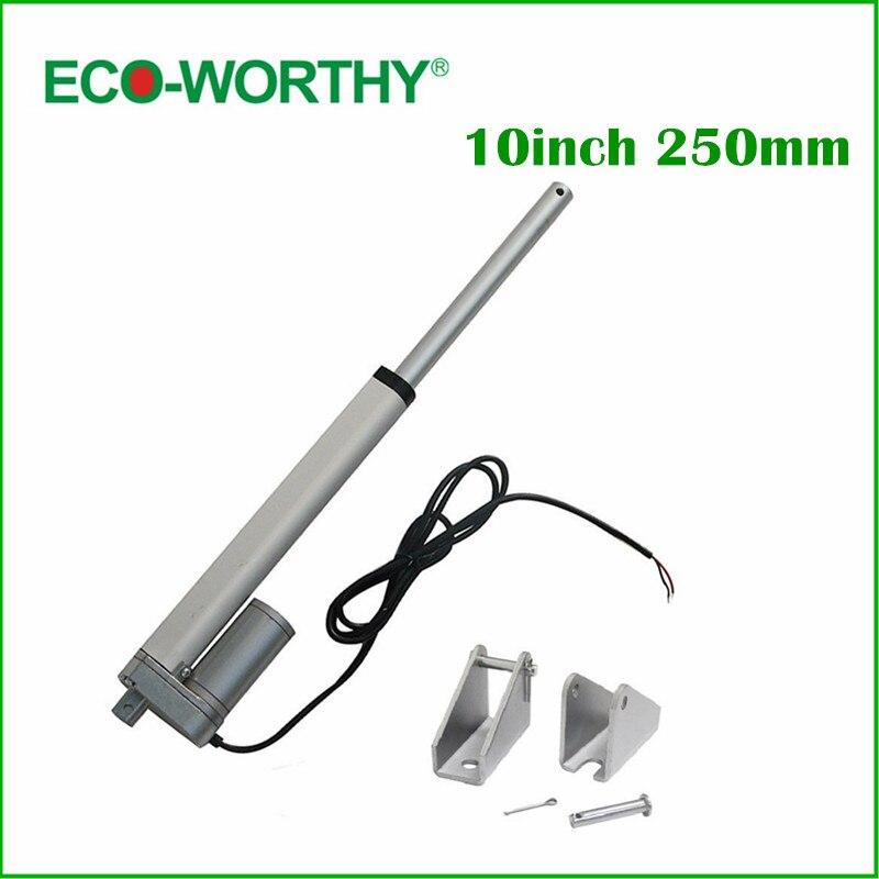 250 мм ход 12 В постоянного электрического линейный привод, солнечные трекера, 1500N = 150 кг нагрузки 5.7 мм/сек, для электрических диван, кровать