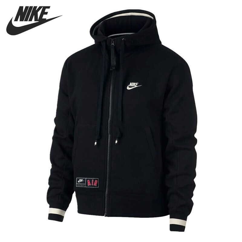 US $100.8 30% OFF|Original New Arrival NIKE AS M NSW AIR HOODIE FZFLC Men's Jacket Hooded Sportswear in Running Jackets from Sports & Entertainment on