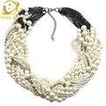 Имитация перл ювелирных изделий лучшие друзья choker necklace created sapphire-ювелирные изделия заявление ожерелье 2016 одном направлении ожерелье