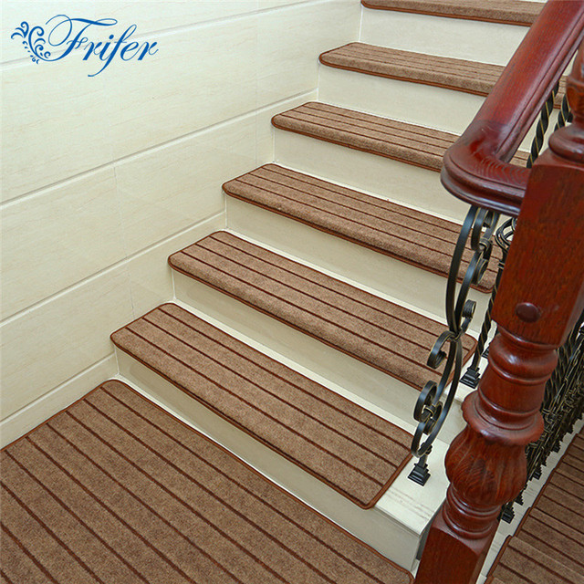 5pcs/set High Quality Stair Carpet Sets Anti Slip Stairs Tread Protector  Mats Soft
