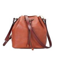 ROCKCOW 2017 Girls Bucket Leather Shoulder Sling Bags For Women Drawstring Handbags Ladies Small Crossbody Bucket Bags