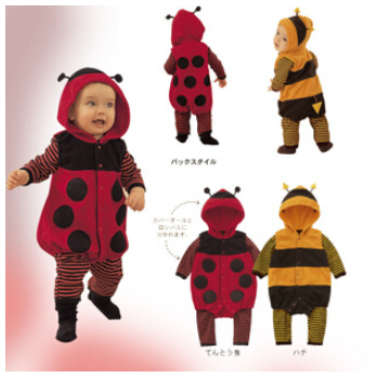 Baby clothes autumn winter one piece cute newborn kids baby girls/boys Fleece LADYBIRD BEE Cartoon Cosplay Costume Dress Rompers cotton baby rompers set newborn clothes baby clothing boys girls cartoon jumpsuits long sleeve overalls coveralls autumn winter