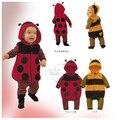 Baby clothes autumn winter one piece cute newborn kids baby girls/boys Fleece LADYBIRD BEE Cartoon Cosplay Costume Dress Rompers