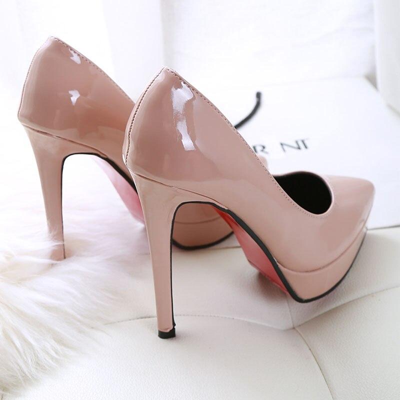 Y 10cm Tacón Negro rojo gris Elegante blanco 12 10cm Cm pink Stiletto Boda Estilo 10cm rosado Zapatos Mujer Sexy Simple gray De Super black 10cm white América Europa red Alto 10cm aqSwvq