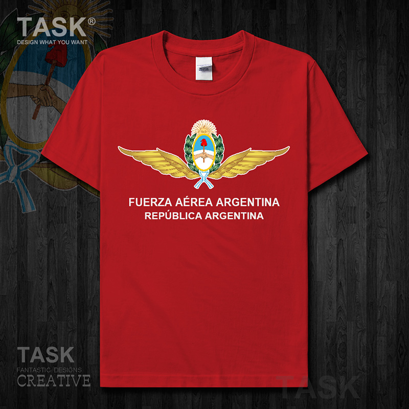 Air Force Argentina Argentine ARG <font><b>AR</b></font> sports clothes Short sleeve new Tops t <font><b>shirt</b></font> cotton fans fitness Army Tactical Military 01 image