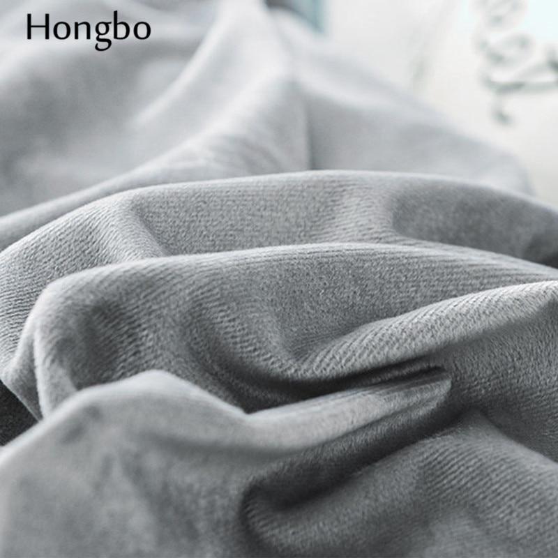Hongbo Winter Warme Grid Muster Duvet Abdeckung Quilt Kristall Flanell Geometrische Gitter Gedruckt Baumwolle Bettbezug House - 6