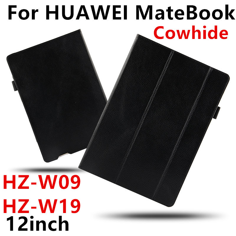 Case Cowhide For Huawei MateBook Smart cover Genuine Leather Protective Tablet PC 12 inch For Matebook HZ-W09 W19 W29 Protector цены онлайн