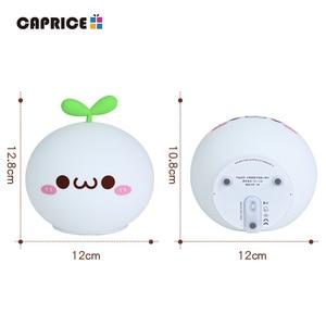 Image 5 - USB LED לילה אור מנורת רך סיליקון מגע חיישן Cartoon 5V 1200 mAh 8 שעות עבודה ילדים חמוד לילה אור BP D PPD U