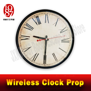 Room escape clock prop JXKJ1987 wireless clock prop put the right time to unclock Takagism game real life escape room puzzle(China)