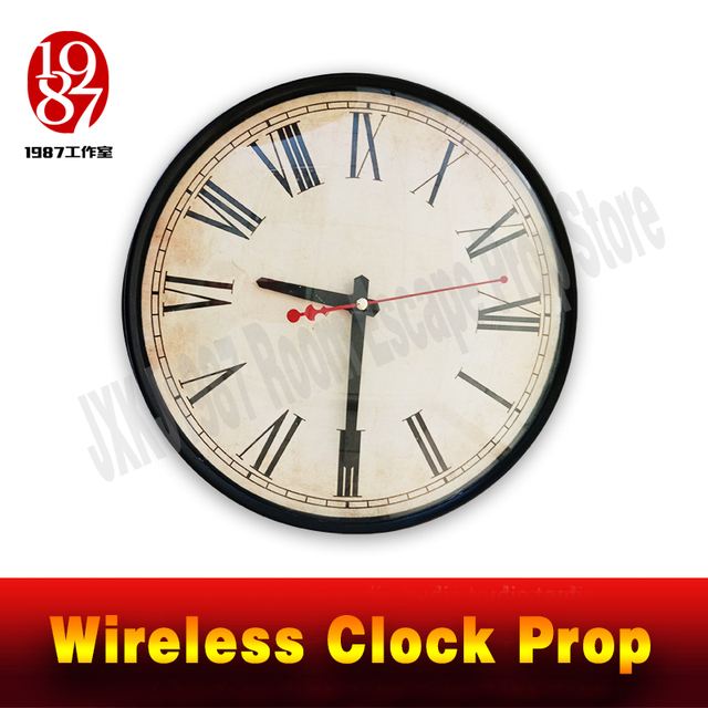 Room escape clock prop JXKJ1987 wireless clock prop put the right time to unclock Takagism game real life escape room puzzle