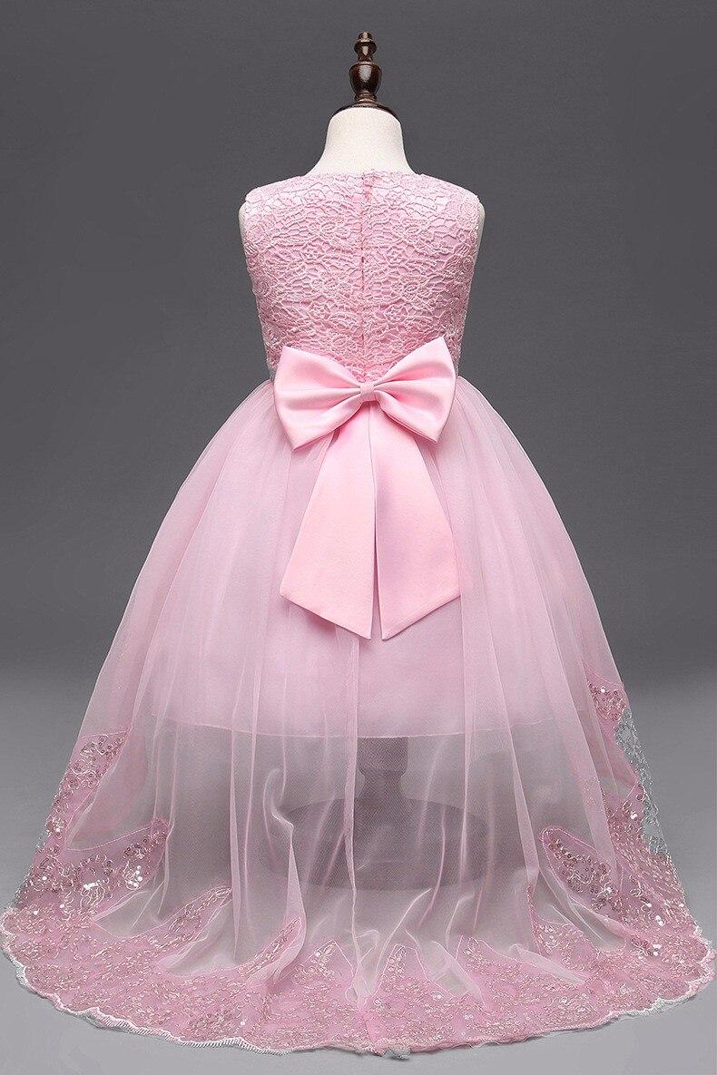 Kids Girls Long Sleeve Lace Ball Gown Tutu Dress Party Princess Dresses Skirt
