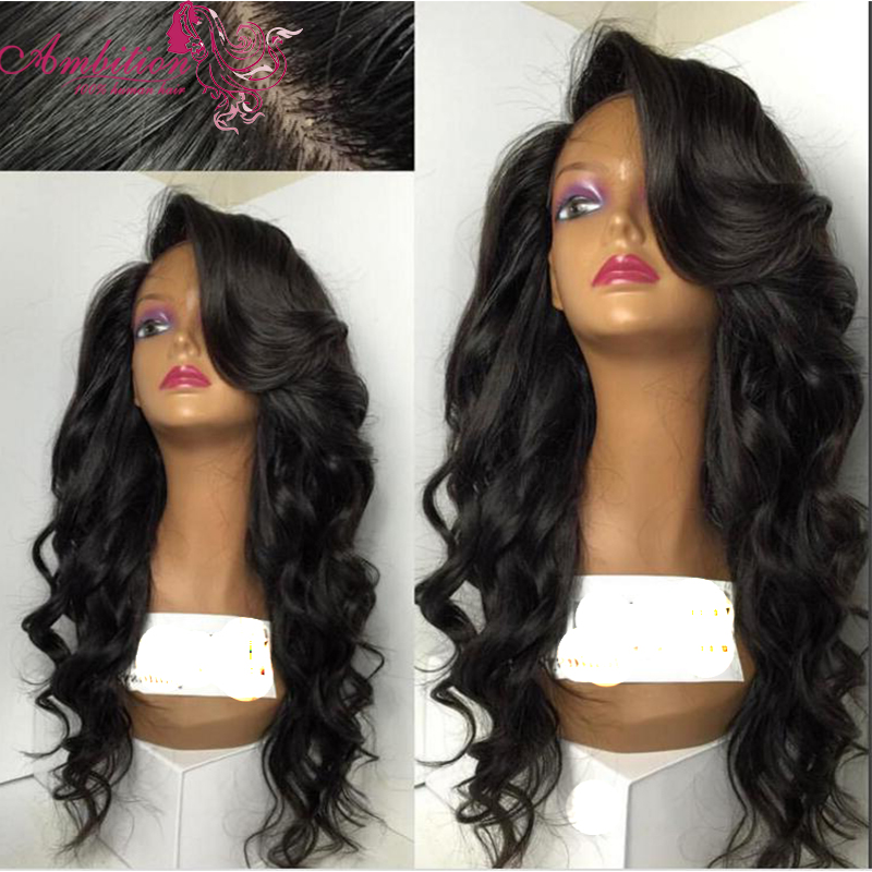 7a Silk Base Full Lace Front Human Hair Wigs With Baby