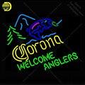 Неоновая вывеска для Corona fish welcome Anglers неоновая лампа для пивного магазина неоновая подсветка настенная вывеска неоновая вывеска для комнаты...