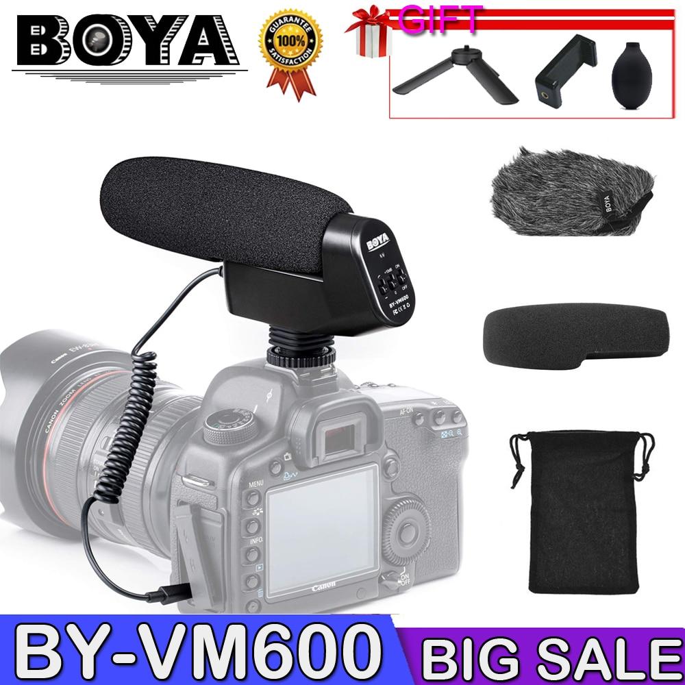 Micro à condensateur directionnel cardioïde BOYA BY-VM600 pour appareil photo Sony Nikon Pentax DLSR