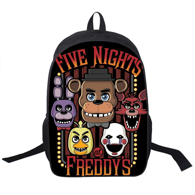 цены Five Nights At Freddy`s Backpack For Teenagers Girls Boys Children School Bags Five Nights At Freddys School Backpacks Chica Bag