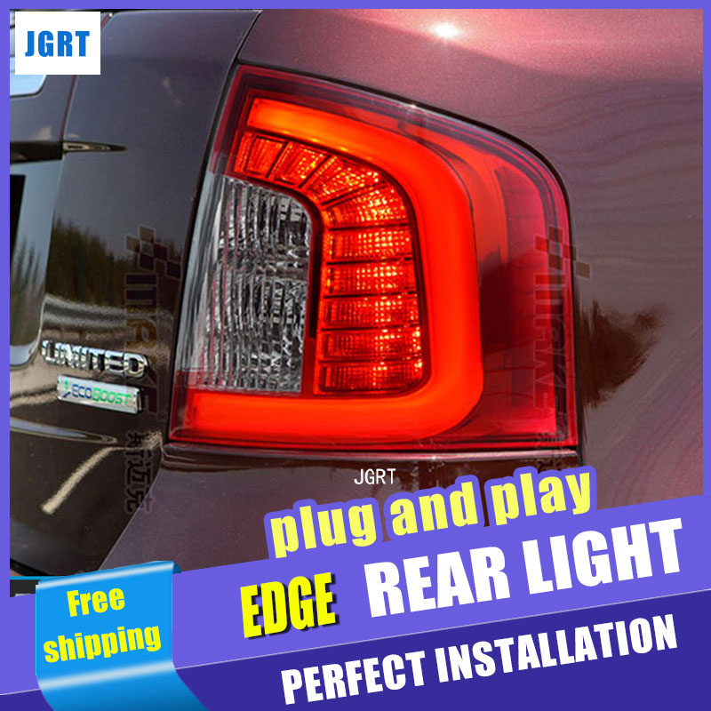 Car Styling LED Tail Lamp for Ford EDGE taillight assembly 2012-2014 EDGE LIMITED led tail light drl rear lamp light with 4pcs. car styling tail lights for toyota highlander 2015 led tail lamp rear trunk lamp cover drl signal brake reverse