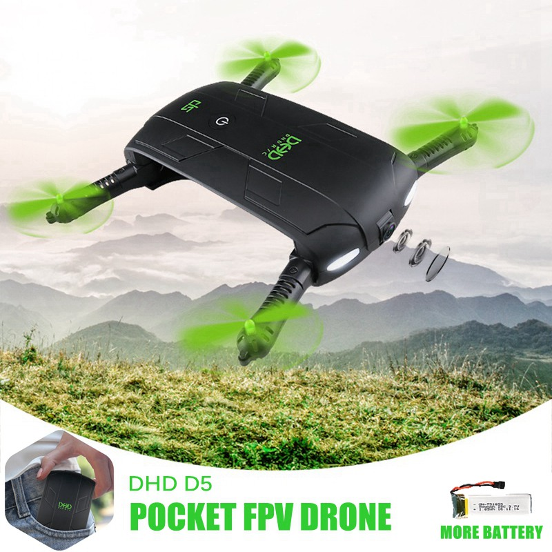5pcs Battery Pocket Selfie Drone With Camera Foldable Mini Fpv Quadcopter Wifi Rc Toy Dhd D5 Helicopter Vs Jjrc H37 523 Jy018
