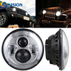 7 Motorcycle Headlights H4 Led Projector Daymaker Hi Lo Motorbike Headlight For Harley Davidson Jeep Wrangler