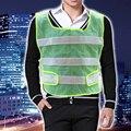 Желтый Светоотражающий Жилет Безопасности Высокая Видимость chaleco reflectante Неон Безопасности Одежда Бег Велоспорт Велосипед Открытый Спорт Работы