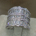 Victoria Wieck Fashion Rings for 2016 Jewelry 925 Sterling Silver White Sapphire Cz Diamond Wedding Princess Women Ring Size5-11