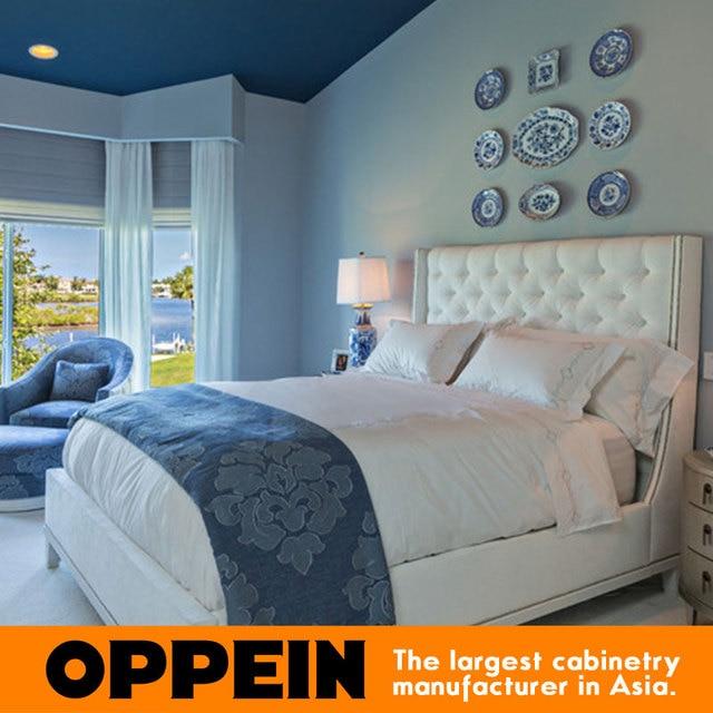 Moderne meubelen Stof bed voor slaapkamer sets massief houten bed ...