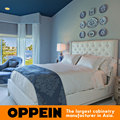 Moderno muebles para el hogar cama de Tejido para juegos de dormitorio de madera maciza cama/cama de cuero WB-RL160097